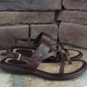 BOC brown leather sandals / size 6
